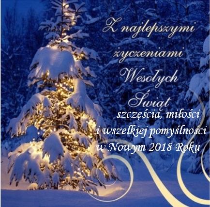życzenia Na Boże Narodzenie I Nowy 2018 Rok Rodzinny Ogród